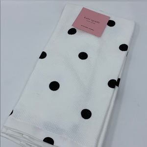 KateSpade Black/white polkadot 2 pk kitchen towels